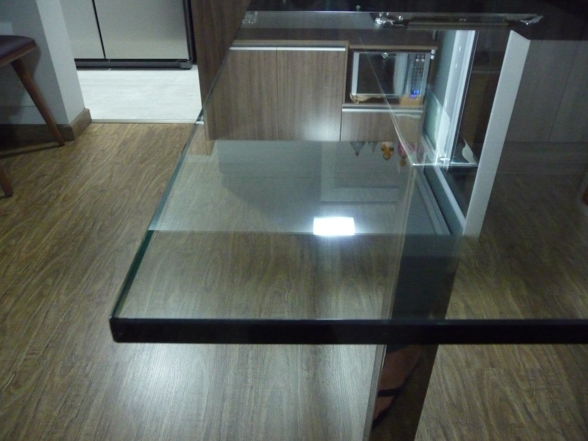 table en verre clair diamondguard